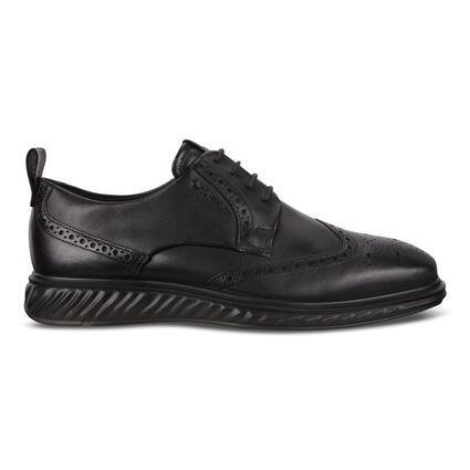에코 맨 ST1 하이브리드 라이트 윙팁 슈즈 ECCO St.1 Mens Hybrid Lite Wingtip Shoes,Black
