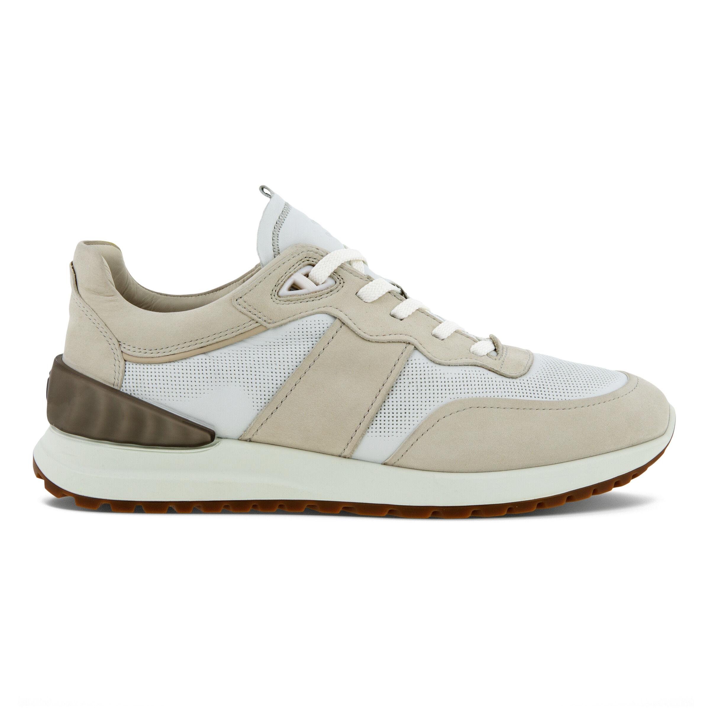 에코 ECCO ASTIR Laced Mens Sneaker,GRAVEL/WHITE/GRAVEL