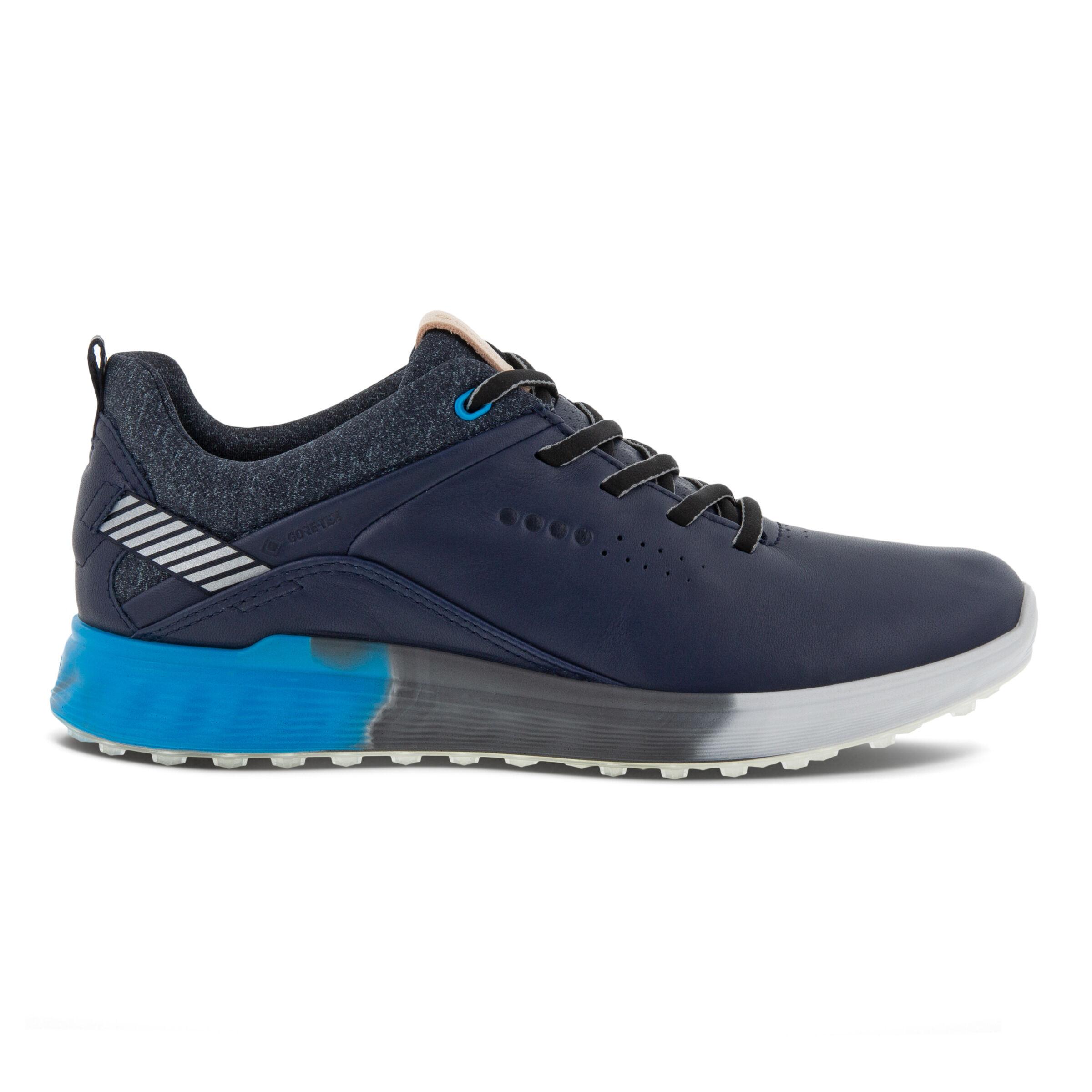 에코 우먼 골프화 ECCO Womens S-Three Spikeless Golf Shoes,NIGHT SKY