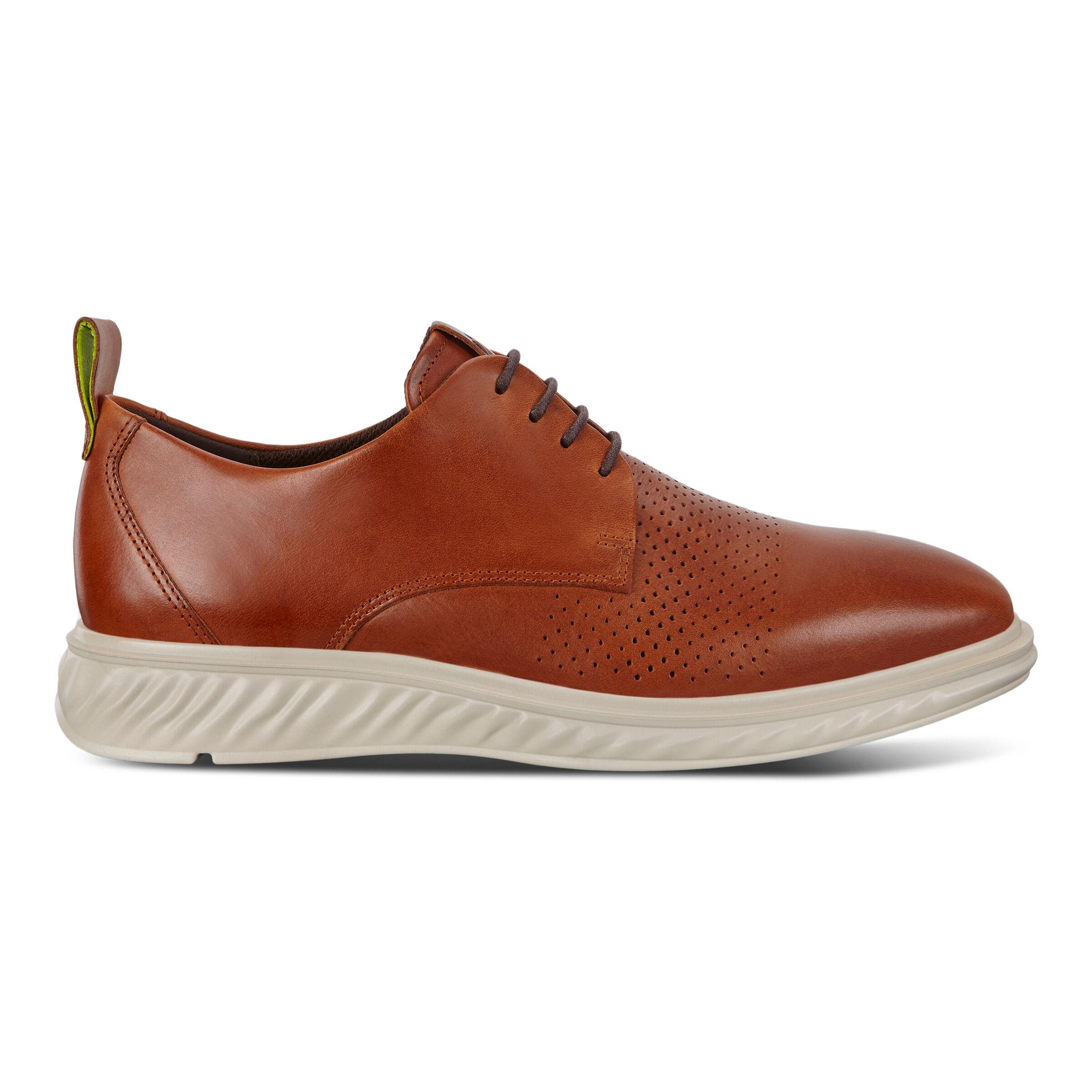 에코 St. 1 하이브리드 라이트 슈즈 ECCO ST.1 Hybrid Lite Plain-Toe Derby Shoes,amber