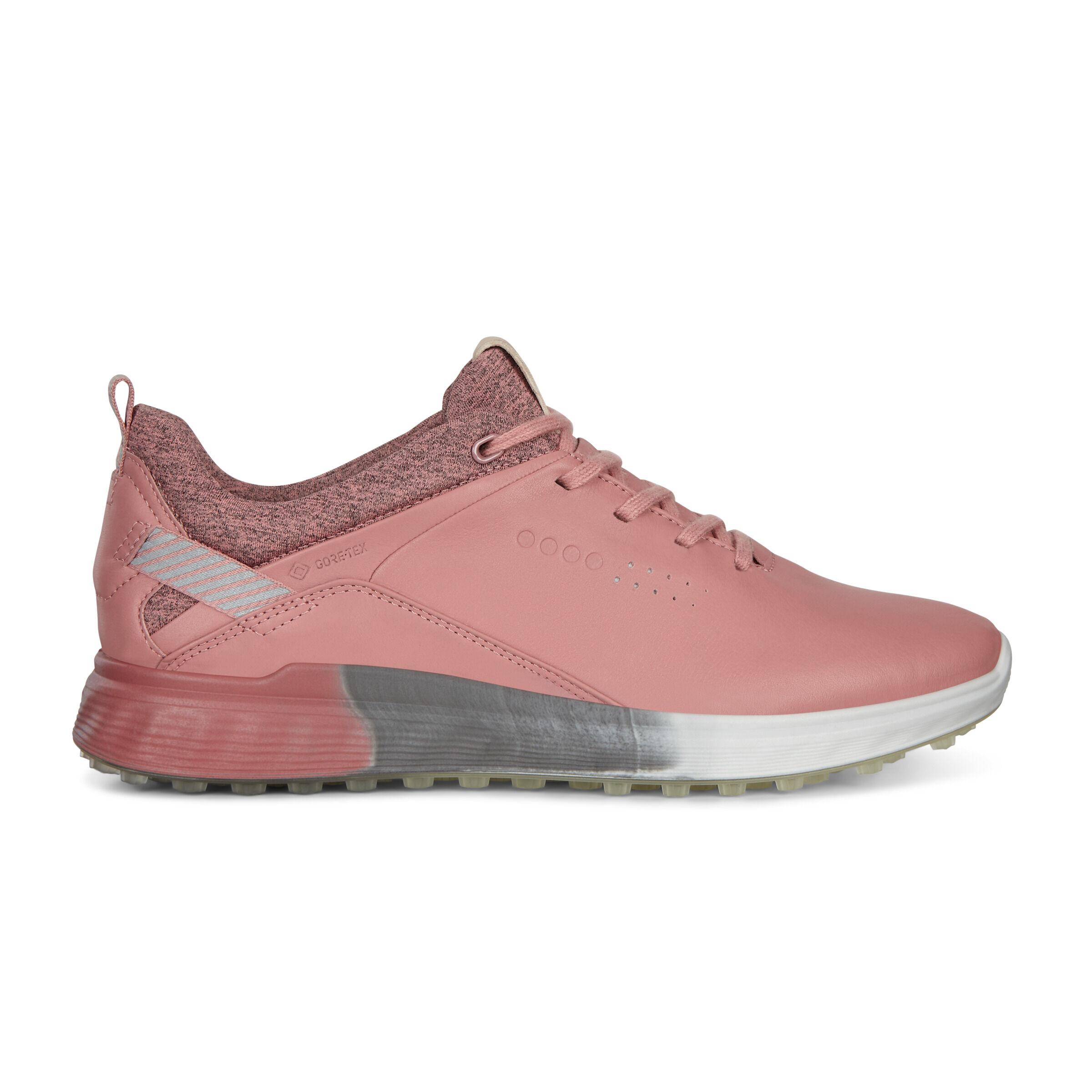 에코 우먼 골프화 ECCO Womens S-Three Spikeless Golf Shoes,DAMASK ROSE