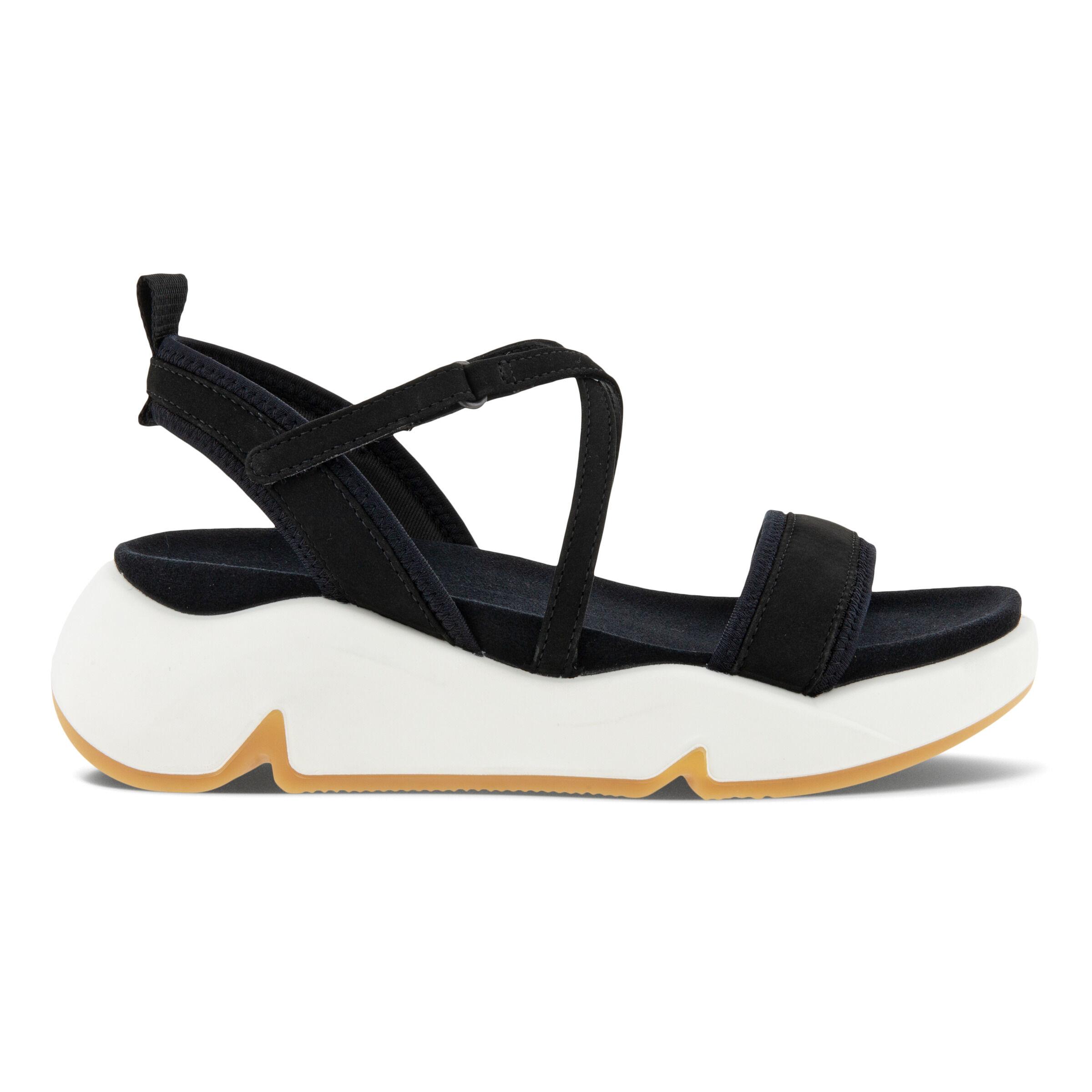에코 샌들 ECCO CHUNKY Womens Sandals,BLACK/BLACK