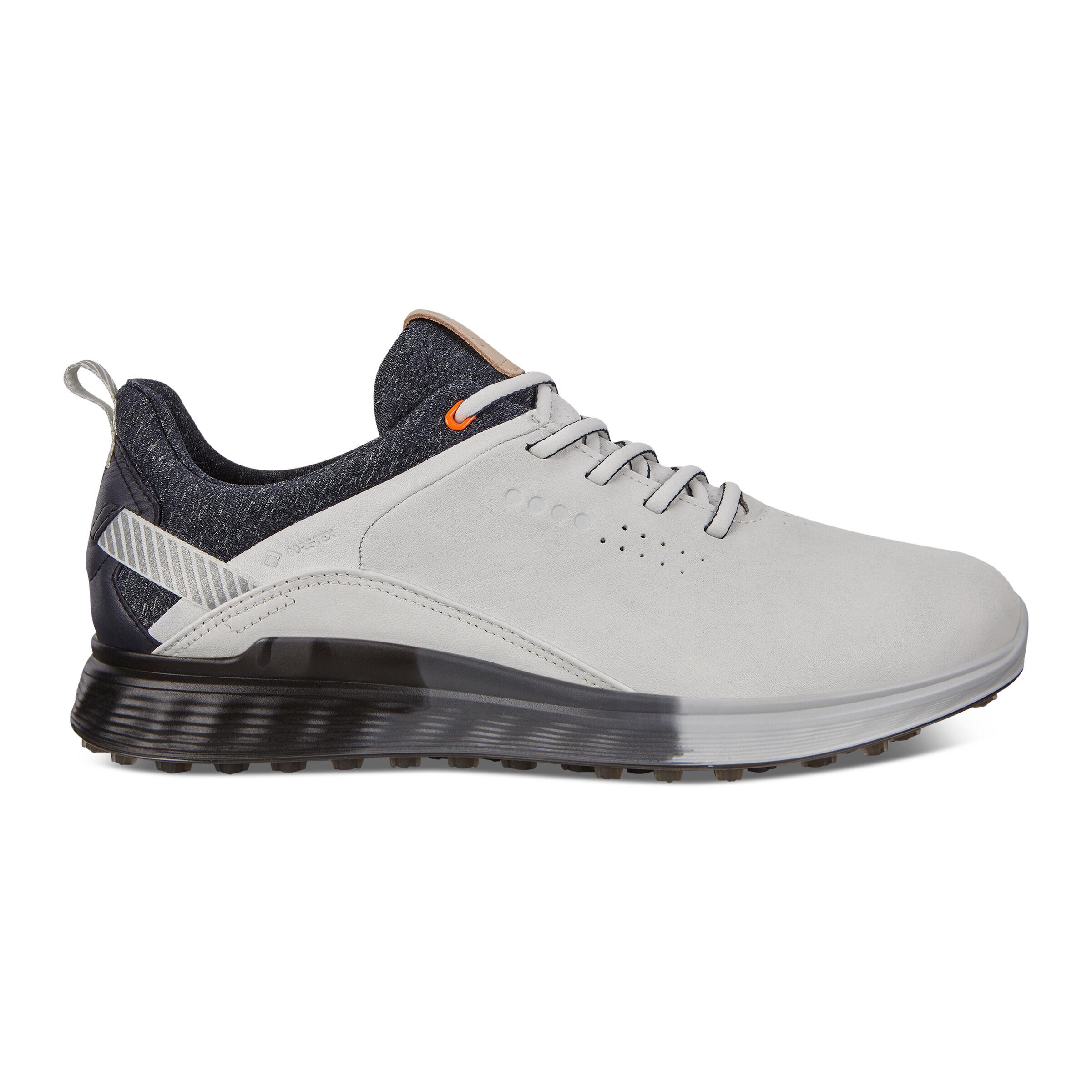 에코 맨 골프화 ECCO Mens S-Three Spikeless Golf Shoes,WHITE