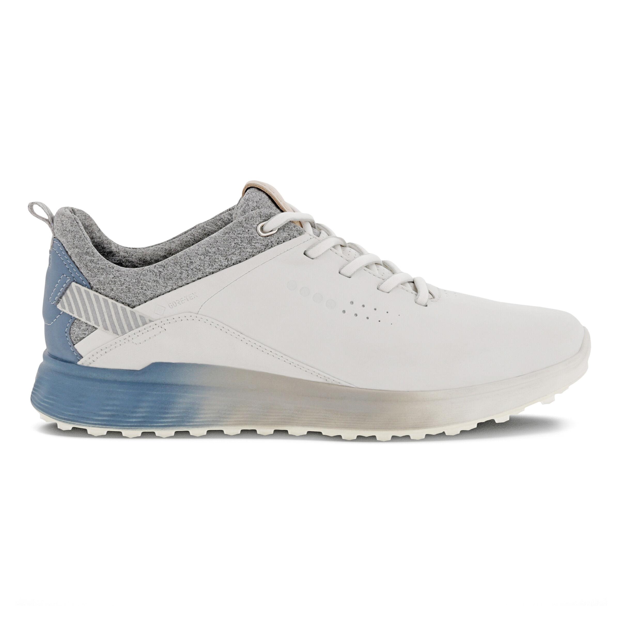 에코 우먼 골프화 ECCO Womens S-Three Spikeless Golf Shoes,WHITE/MIRAGE