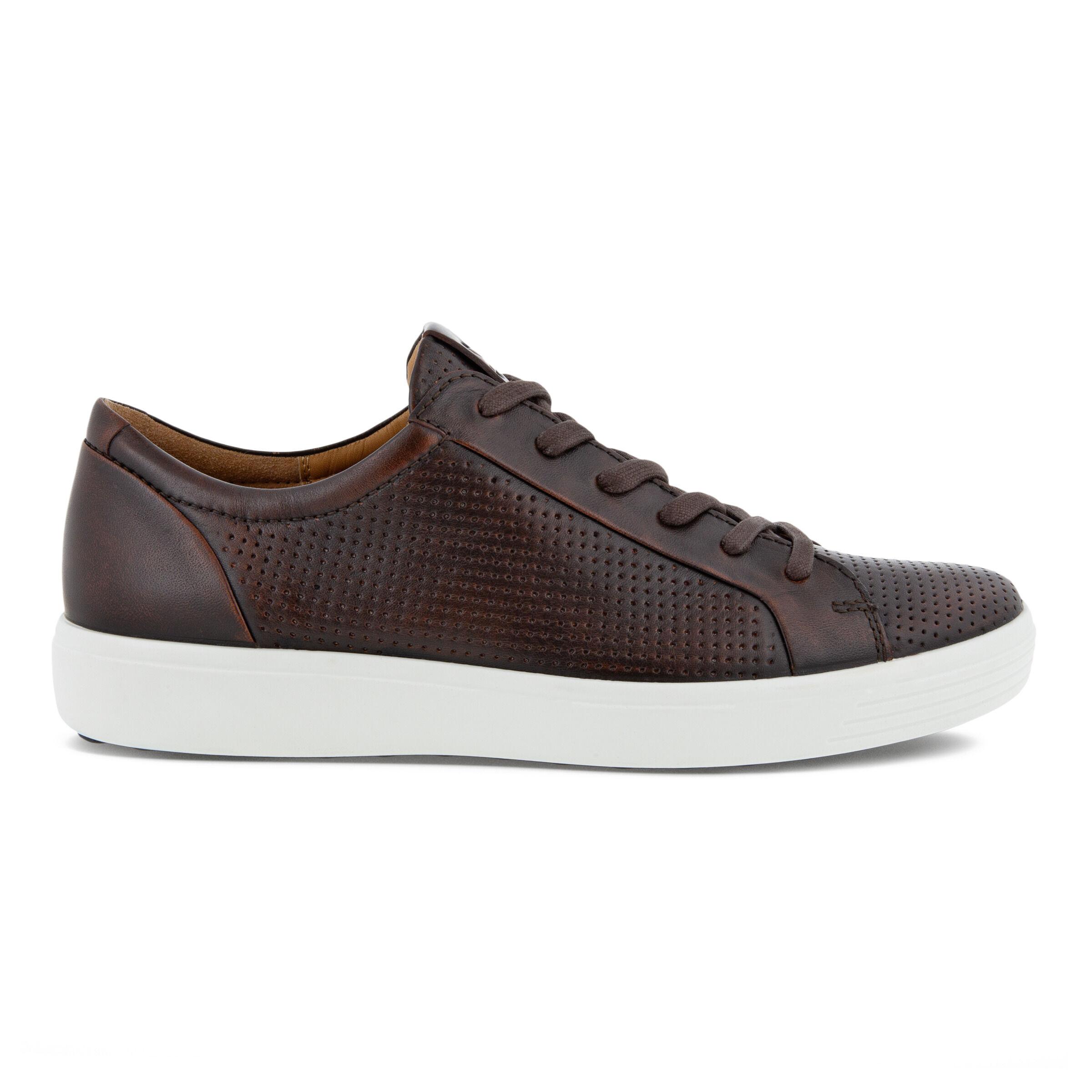 에코 ECCO SOFT 7 Mens Laced Shoes,COGNAC