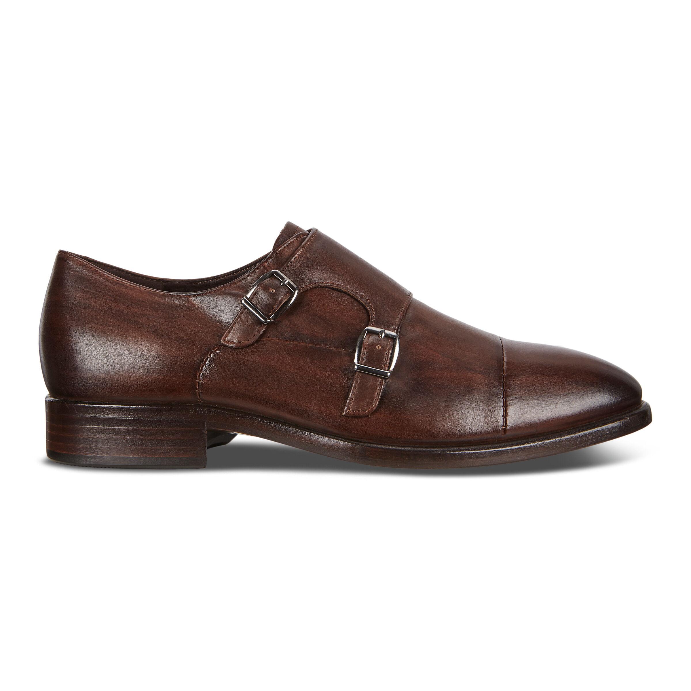 에코 ECCO Vitrus Mondial Double Monk Mens Strap Shoes,cocoa brown