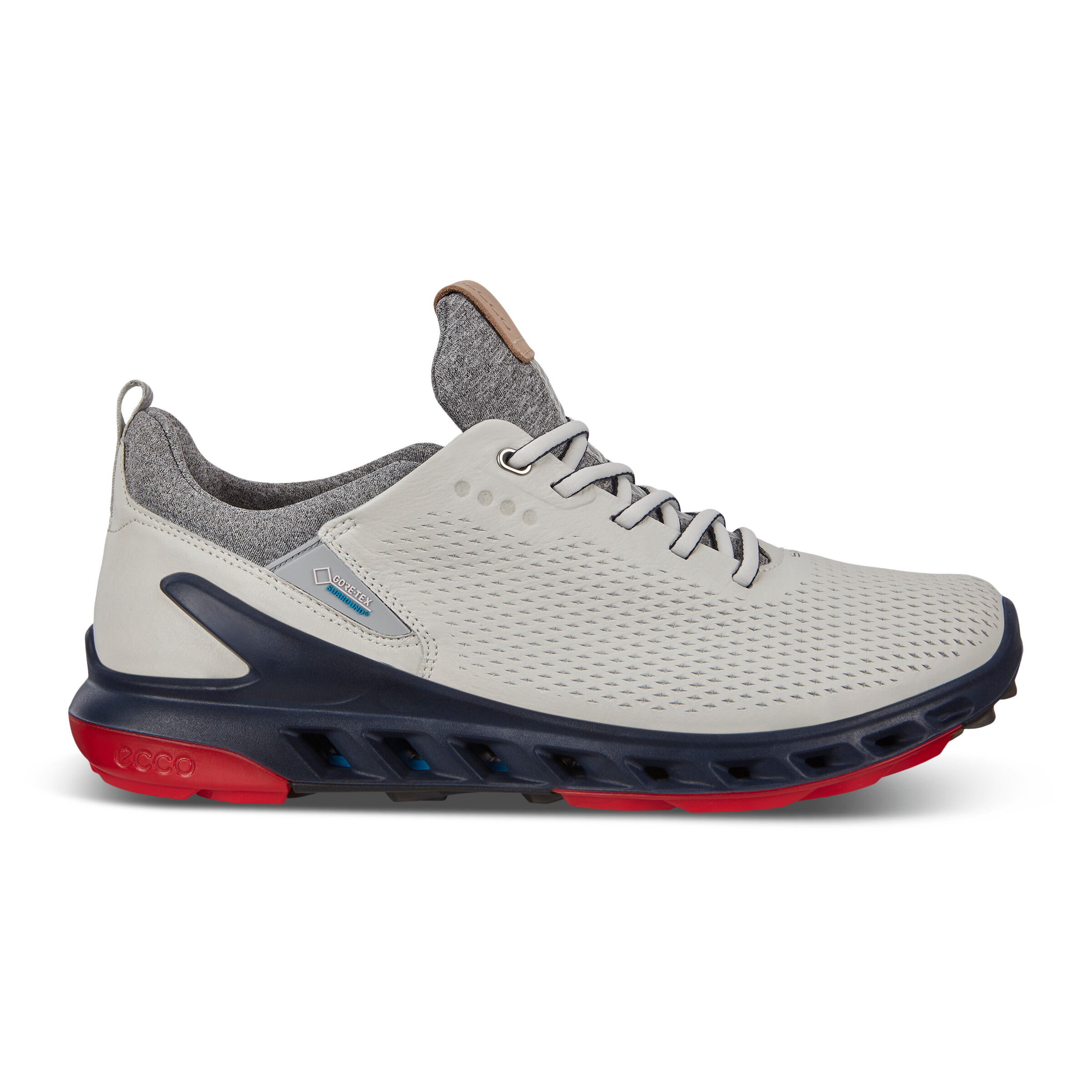 에코 맨 골프화 ECCO M GOLF BIOM COOL PRO Shoe,white/scarlet