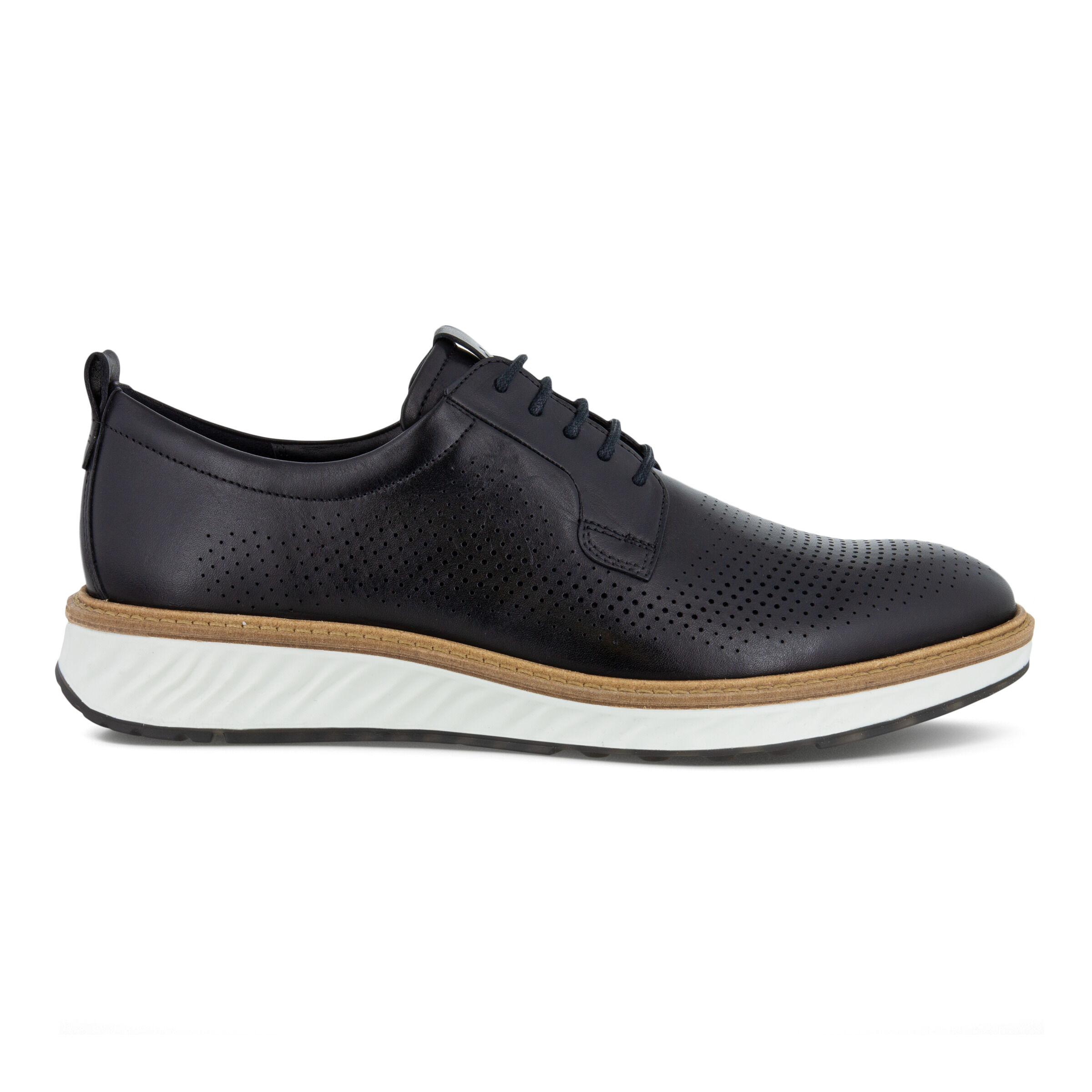 에코 ECCO ST.1 Hybrid Mens 5-Eyelet Derby Shoe,BLACK