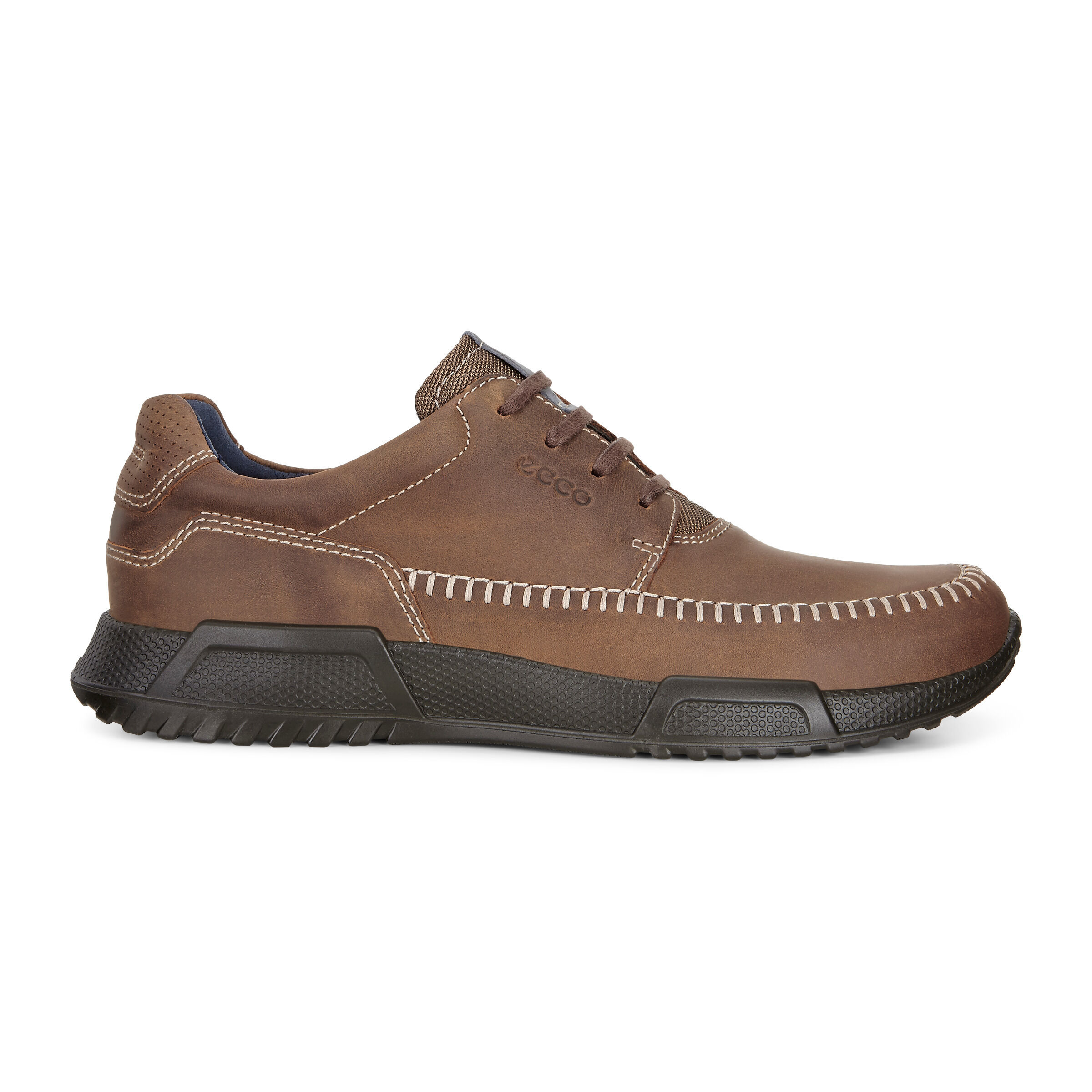 ECCO LUCA Mens Nubuck Leather Casual Lightweight Slip On Comfort Shoes Black