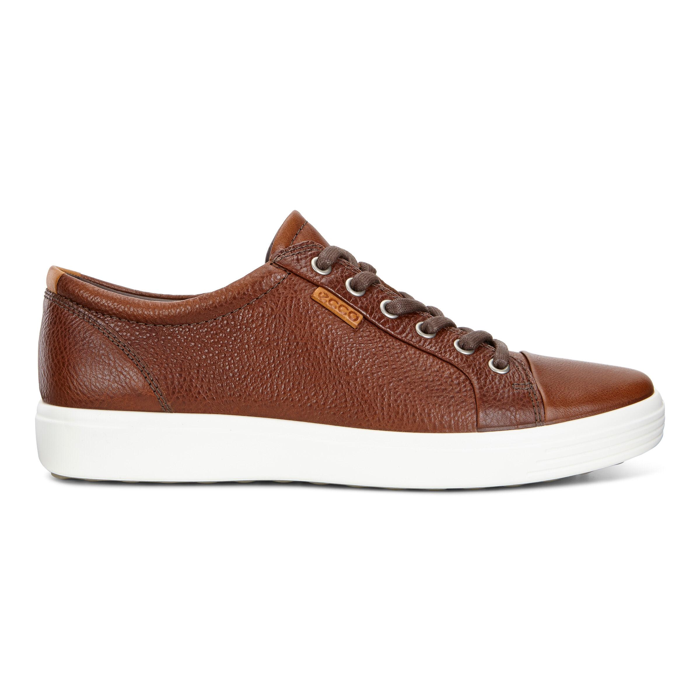 에코 ECCO Soft 7 Mens Sneakers,whisky