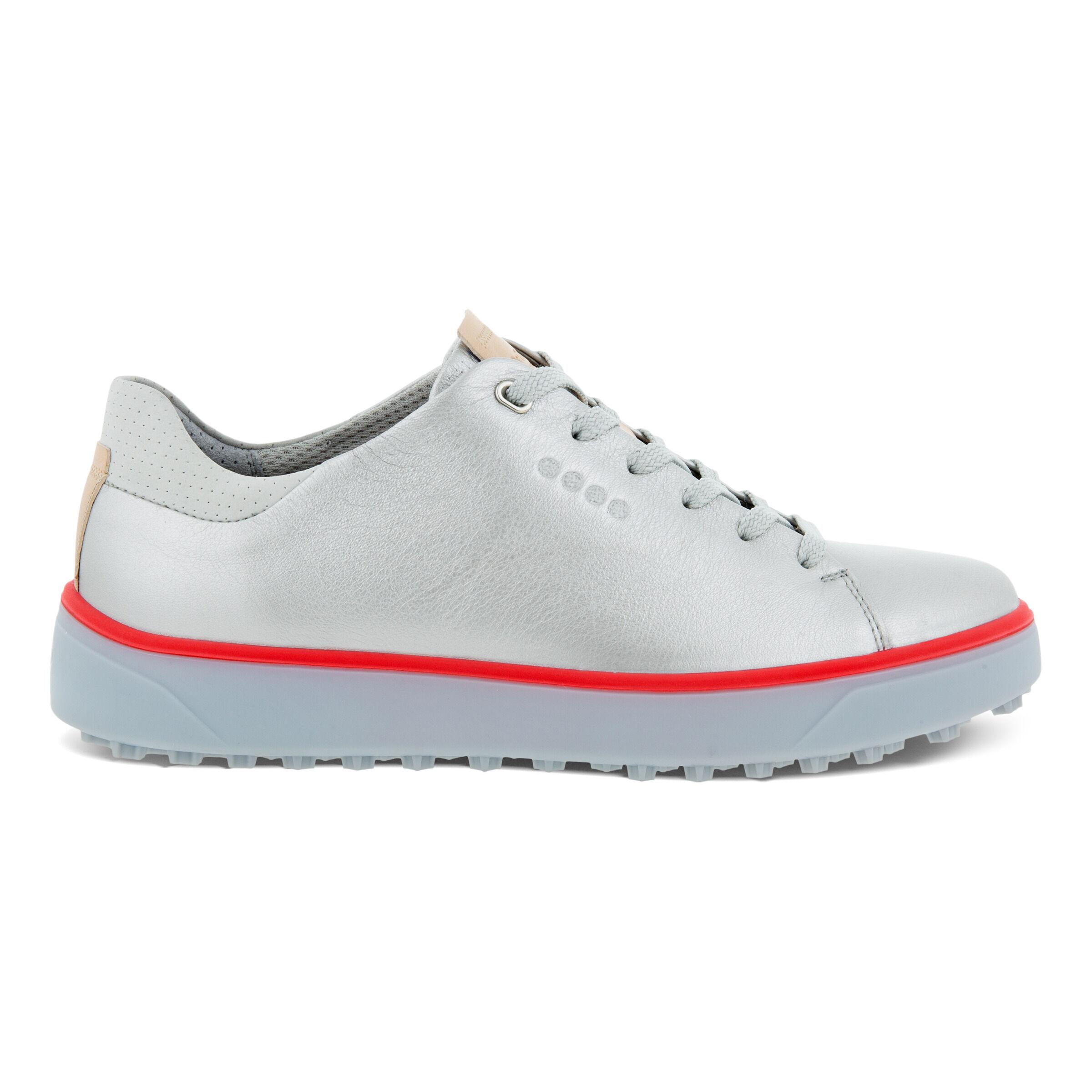 에코 트레이 레이스드 여성 골프화 ECCO Womens GOLF TRAY Laced Shoes,ALUSILVER