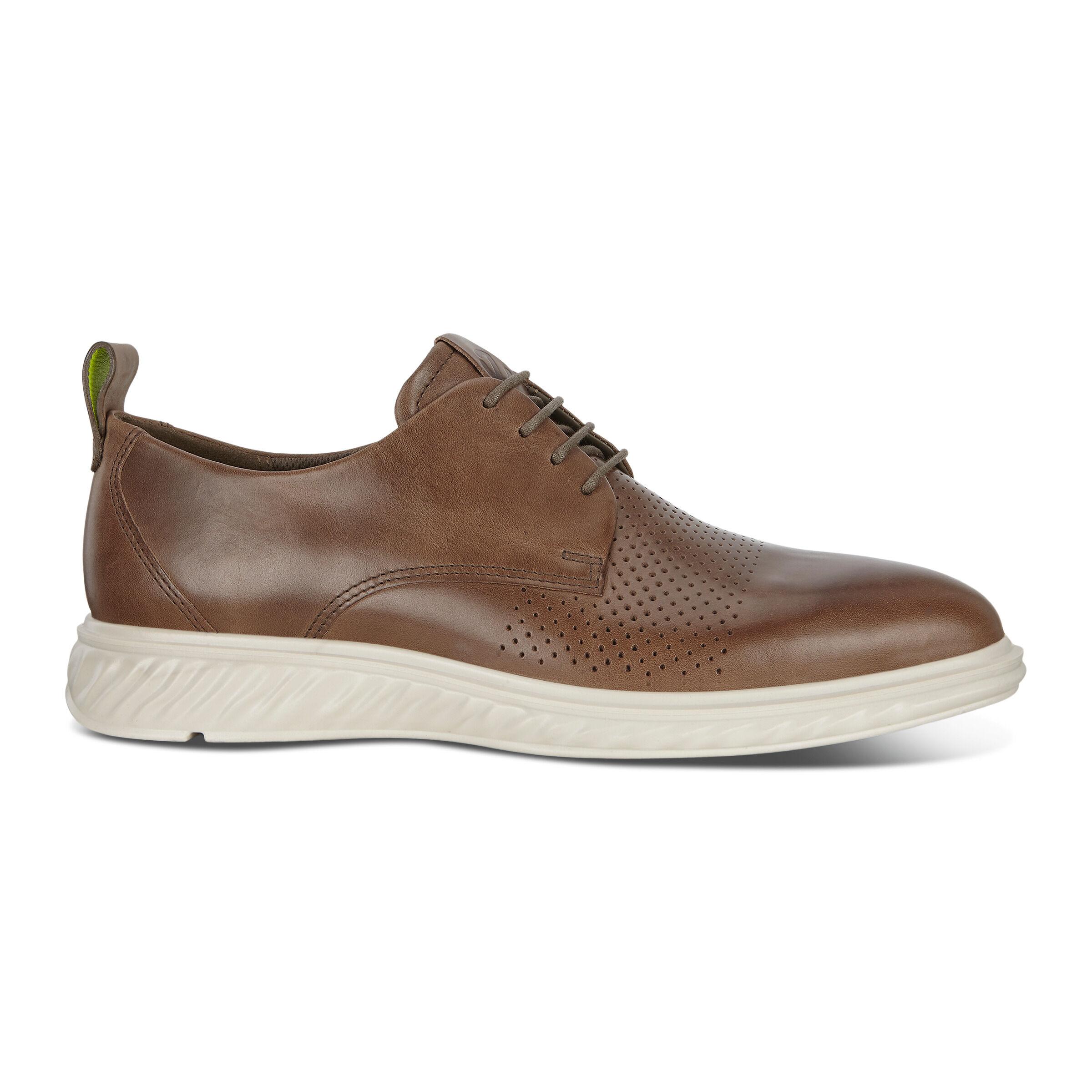 에코 ECCO ST.1 Hybrid Lite Plain-Toe Derby Shoes,DARK CLAY