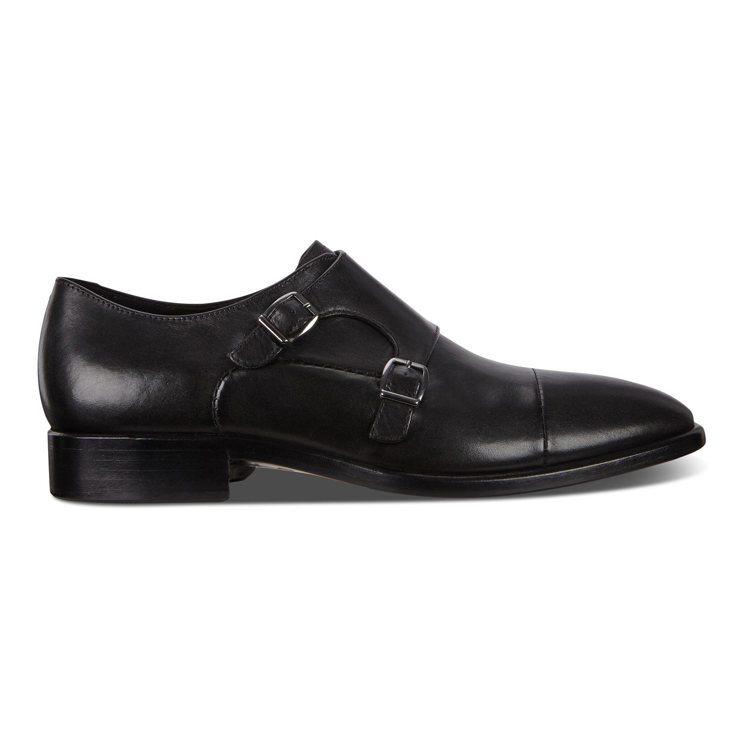 에코 ECCO Vitrus Mondial Double Monk Mens Strap Shoes,black