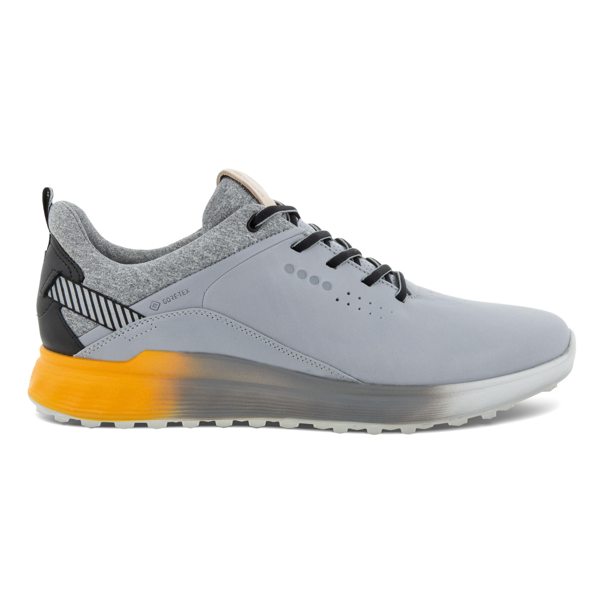 에코 맨 골프화 ECCO Mens S-Three Spikeless Golf Shoes,SILVER GREY
