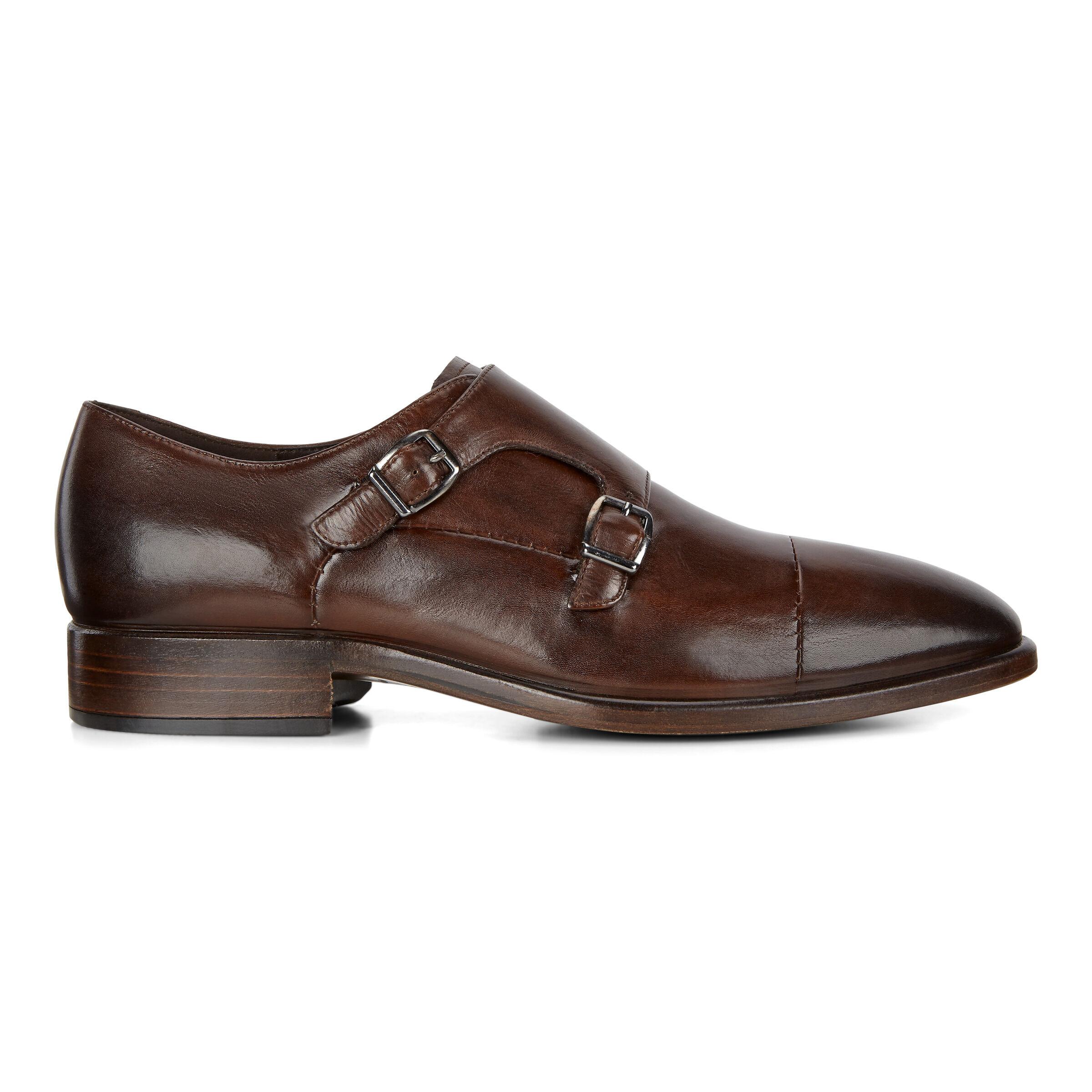 ECCO Vitrus Mondial Double Monk Mens Strap Shoes