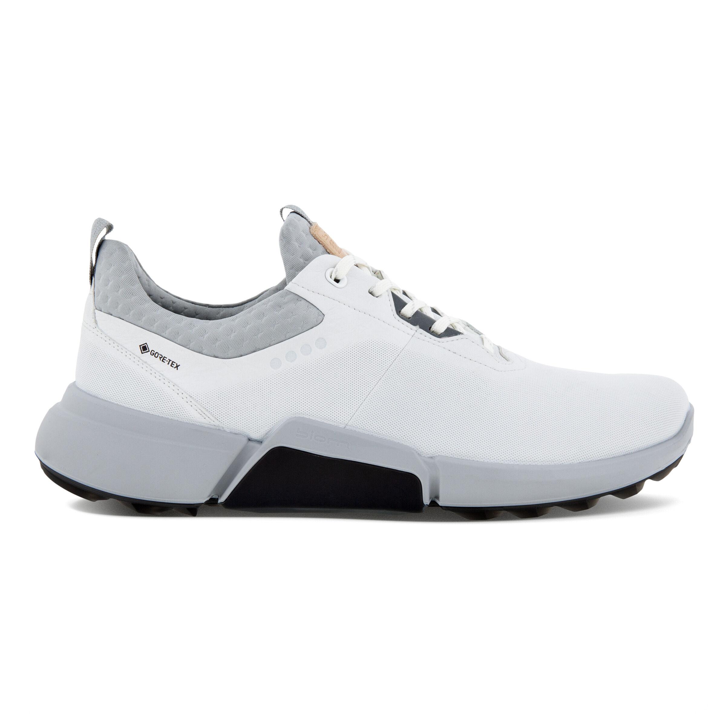 에코 맨 골프화 ECCO Mens BIOM H4 Golf Shoe,WHITE/CONCRETE