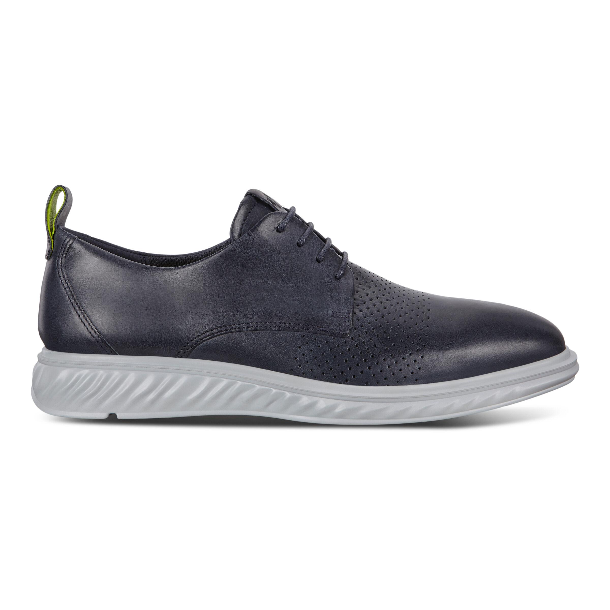 에코 ECCO ST.1 Hybrid Lite Plain-Toe Derby Shoes,denim blue
