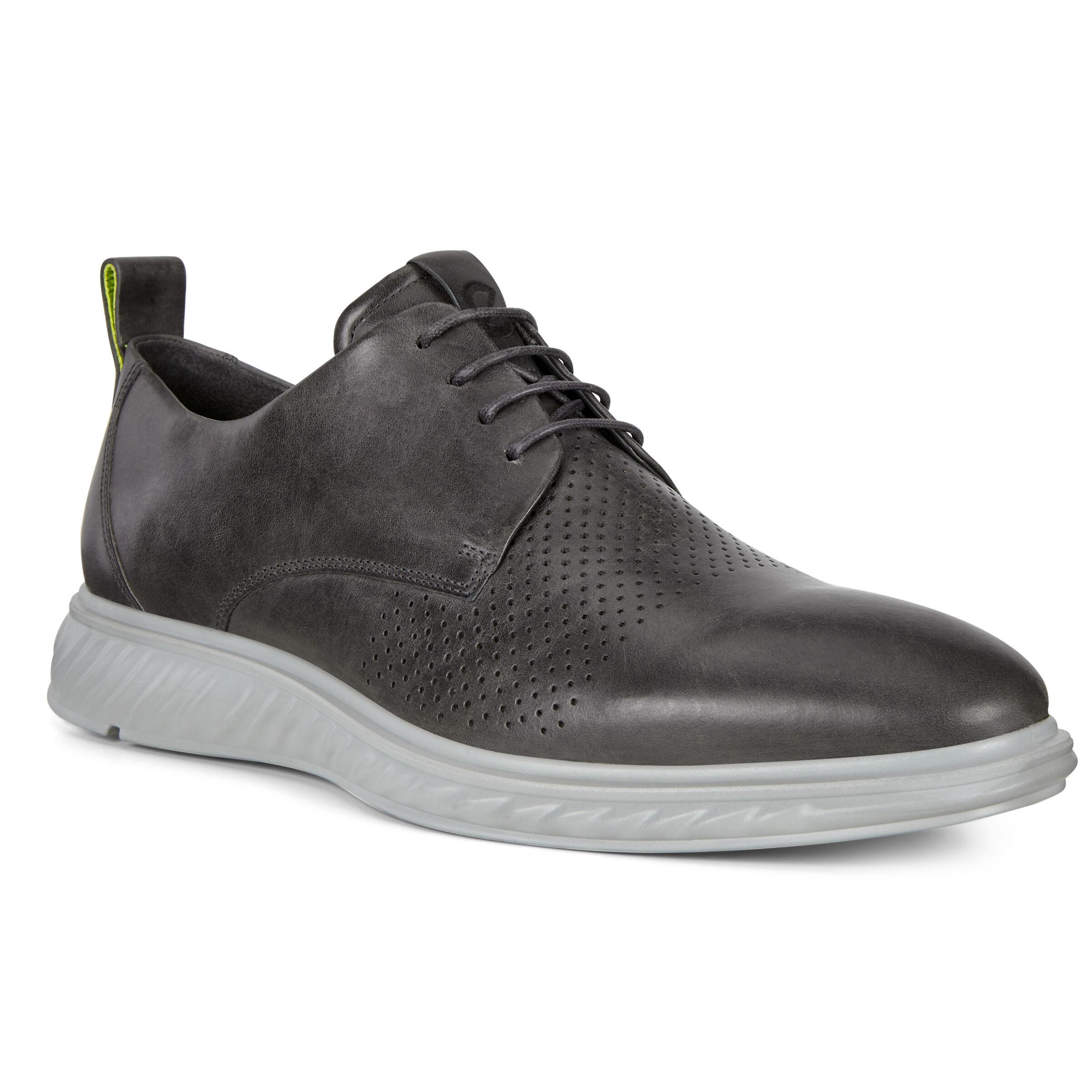 에코 St. 1 하이브리드 라이트 슈즈 ECCO ST.1 Hybrid Lite Plain-Toe Derby Shoes,TITANIUM