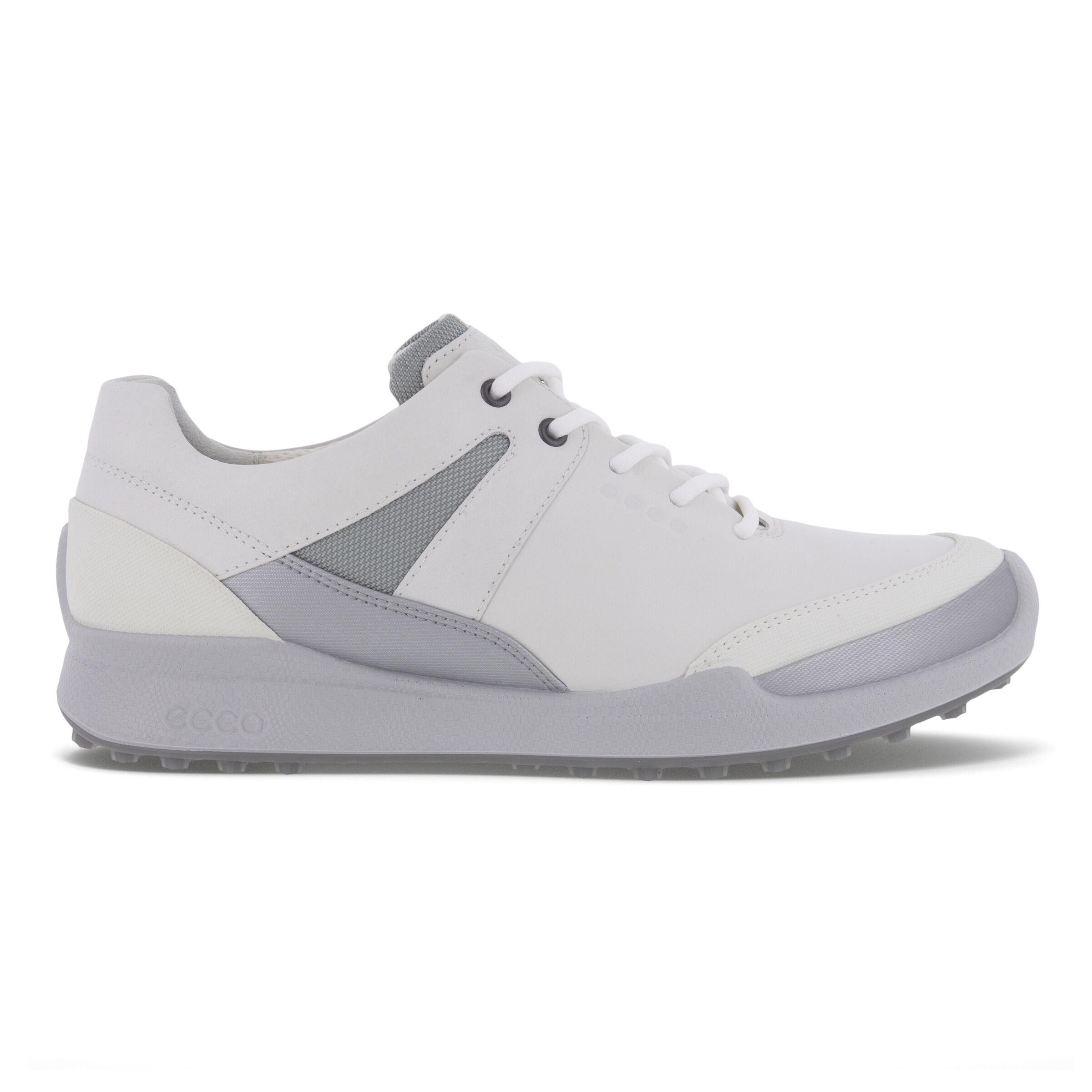 에코 우먼 골프화 ECCO Womens GOLF BIOM HYBRID Shoe,WHITE/SILVER METALLIC/WHITE