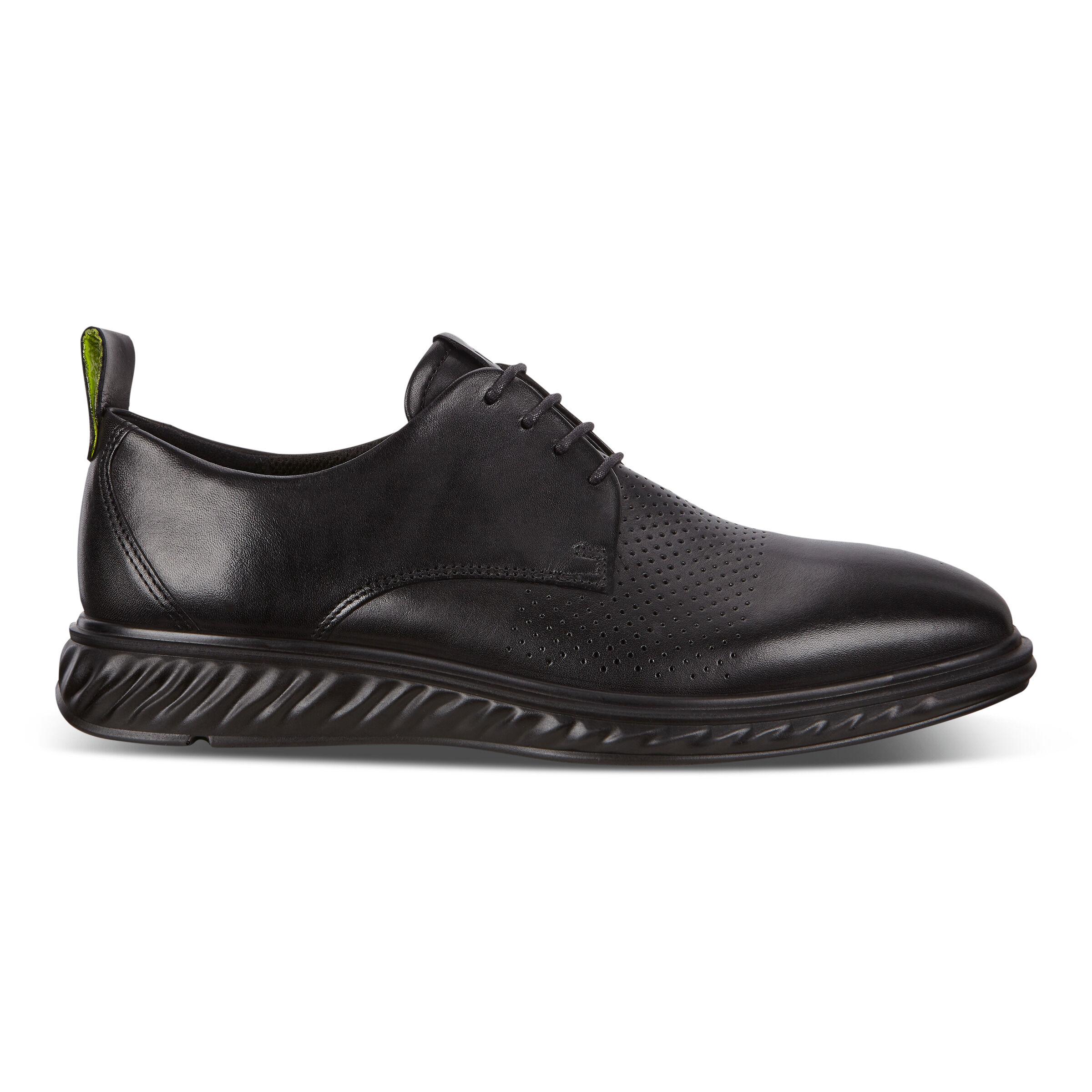 에코 St. 1 하이브리드 라이트 슈즈 ECCO ST.1 Hybrid Lite Plain-Toe Derby Shoes,black