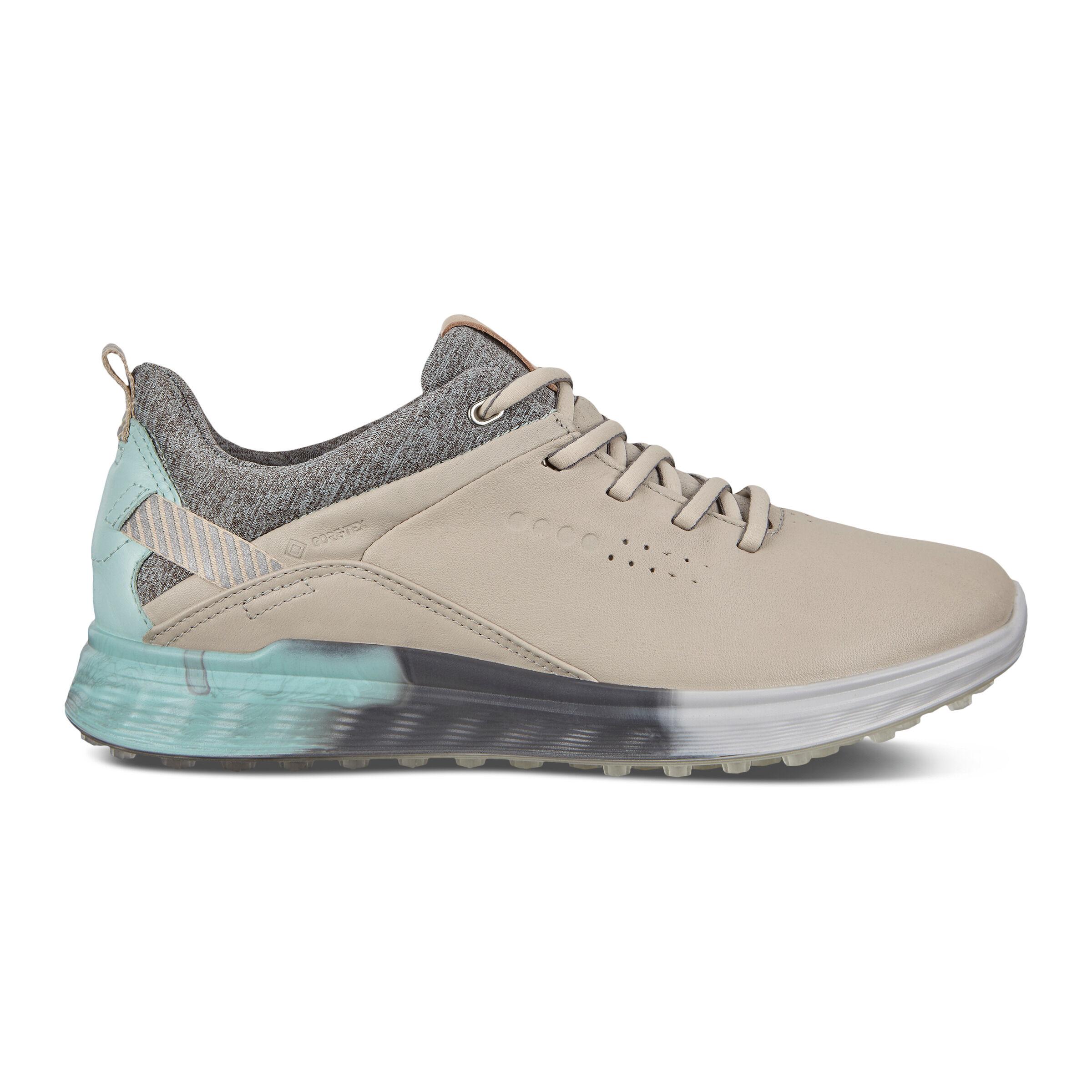 에코 우먼 골프화  ECCO Womens S-Three Spikeless Golf Shoes,Gravel