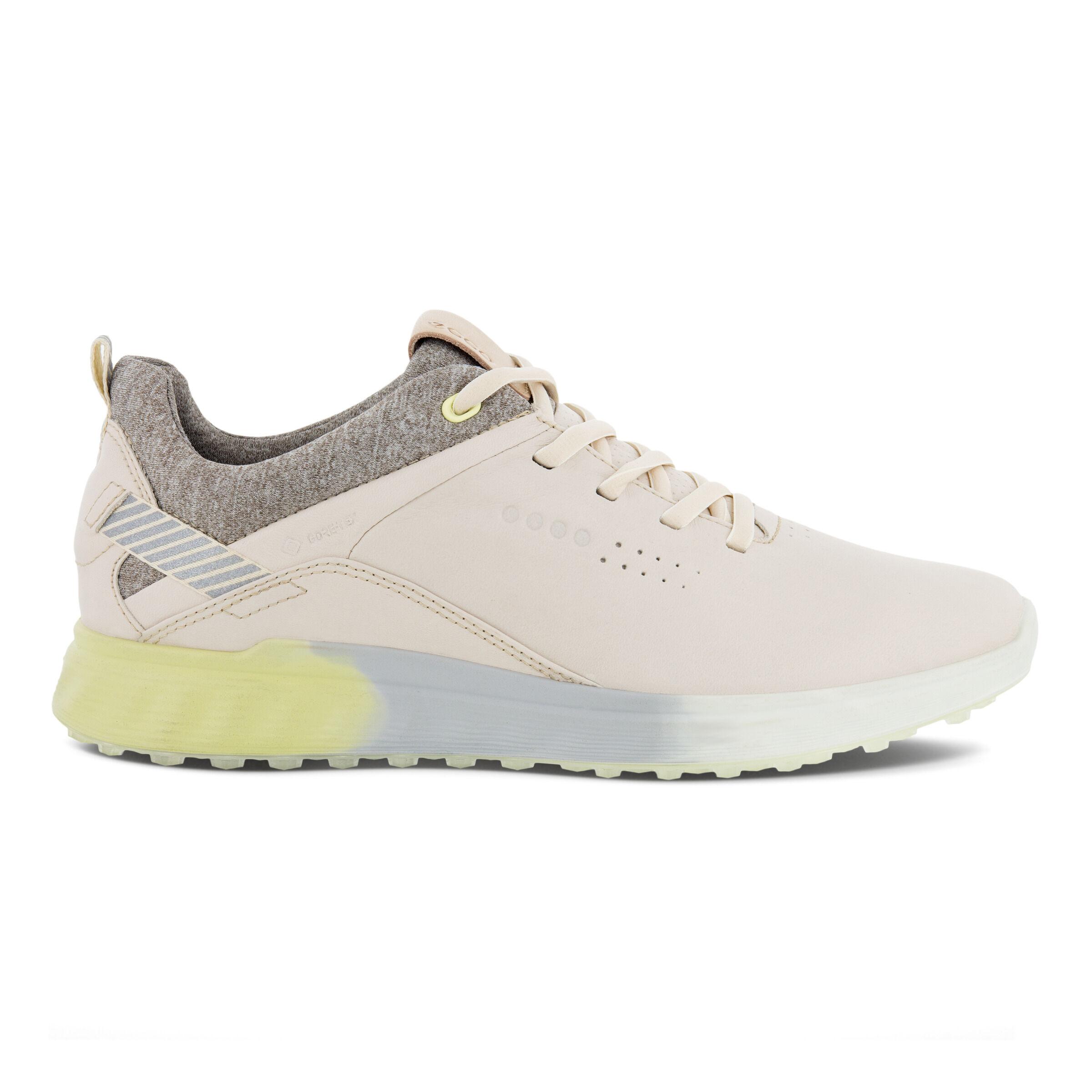 에코 우먼 골프화 ECCO Womens S-Three Spikeless Golf Shoes,LIMESTONE