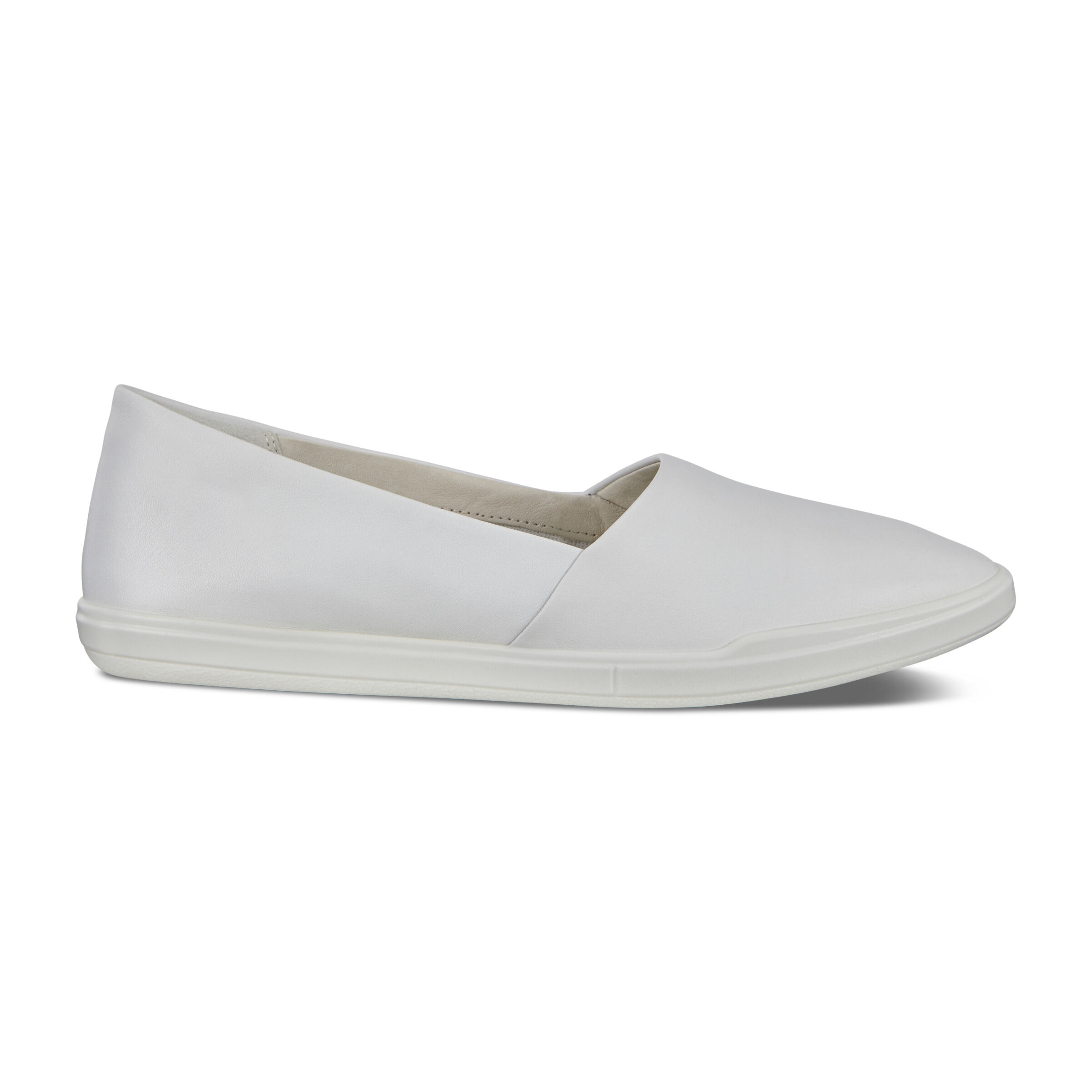 에코 ECCO Simpil Womens Loafers,WHITE