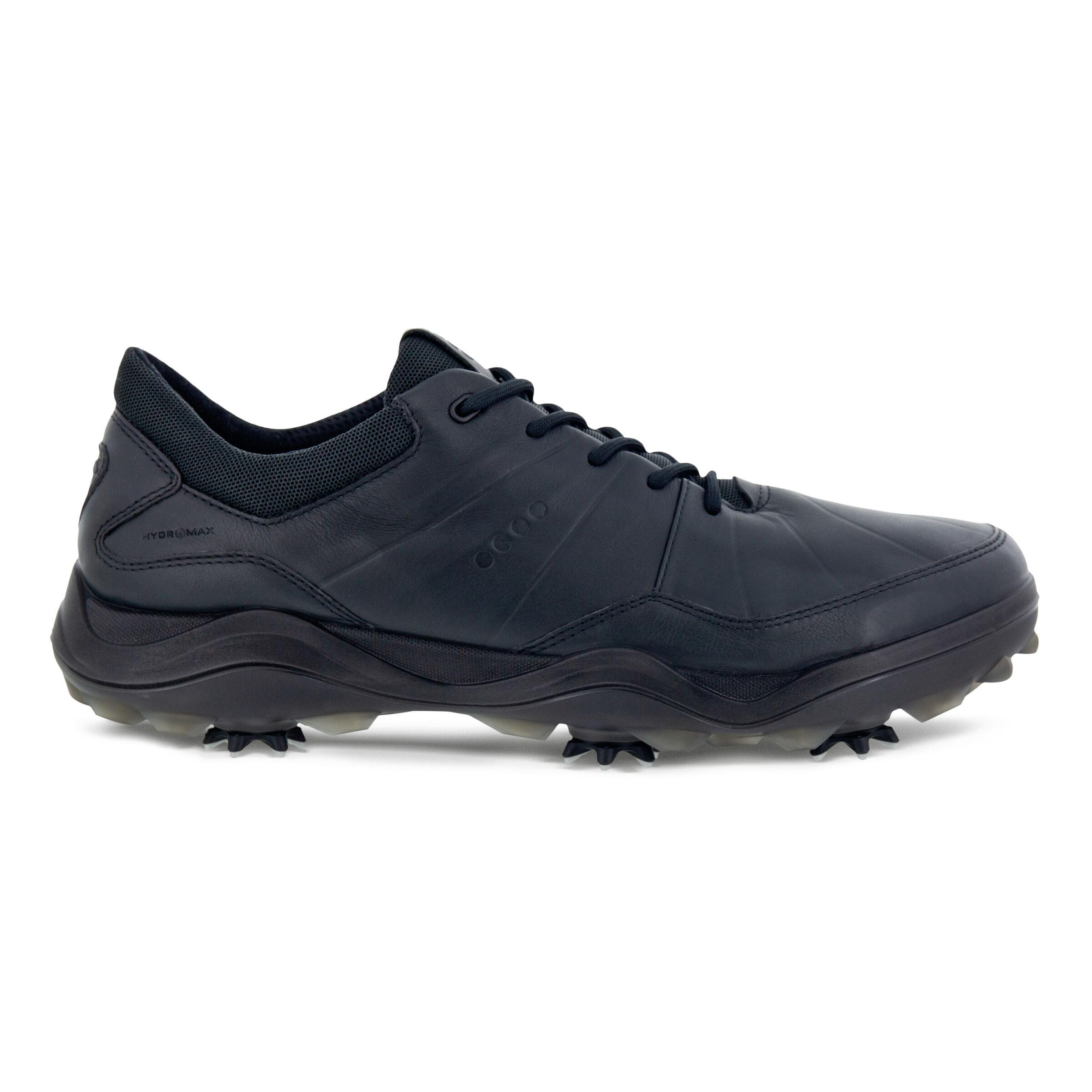 에코 맨 골프화 ECCO Mens Cleated Golf Strike Shoes,BLACK
