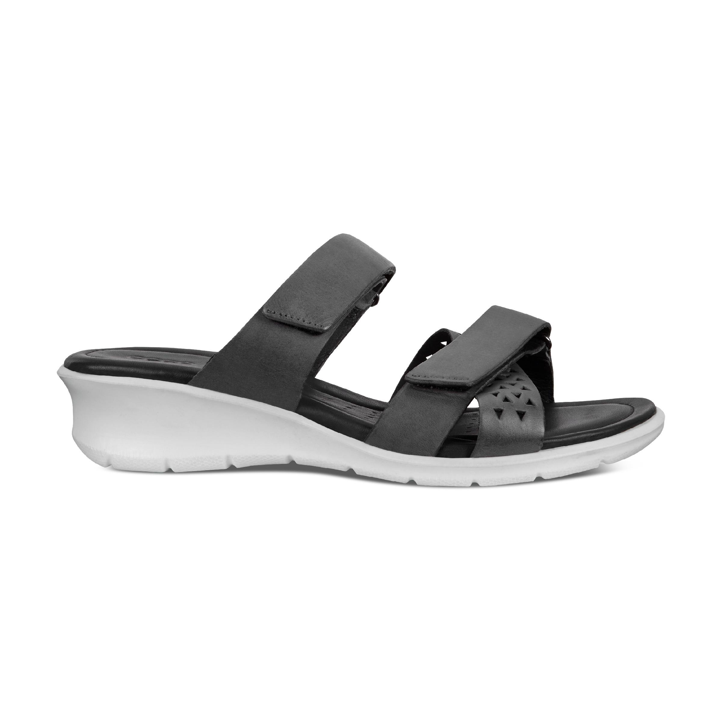 ECCO Felicia Sandal Heeled San Size 7-7.5 Black