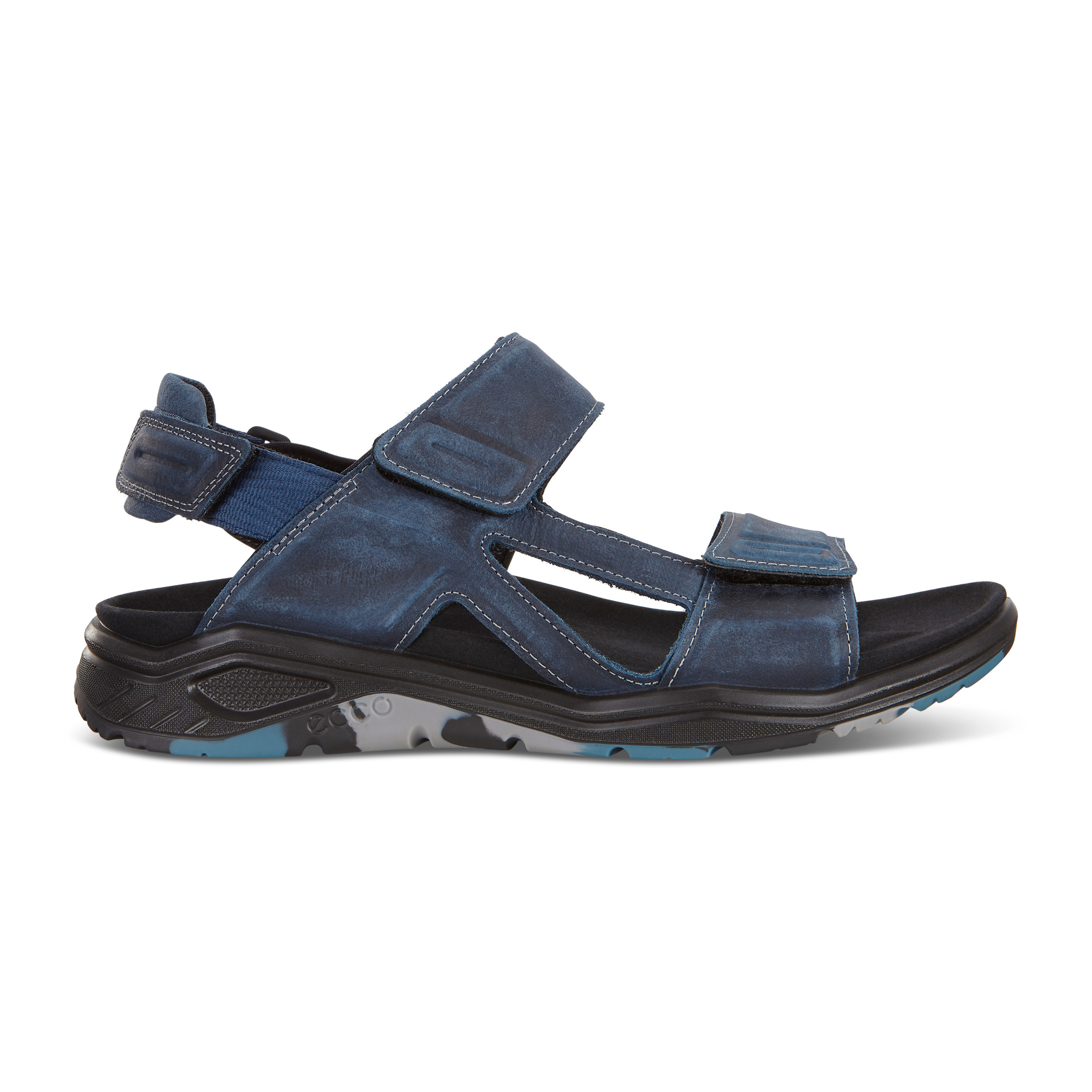 UPC 809704880600 product image for ECCO X-trinsic Flat Sandal Size 5-5.5 True Navy | upcitemdb.com