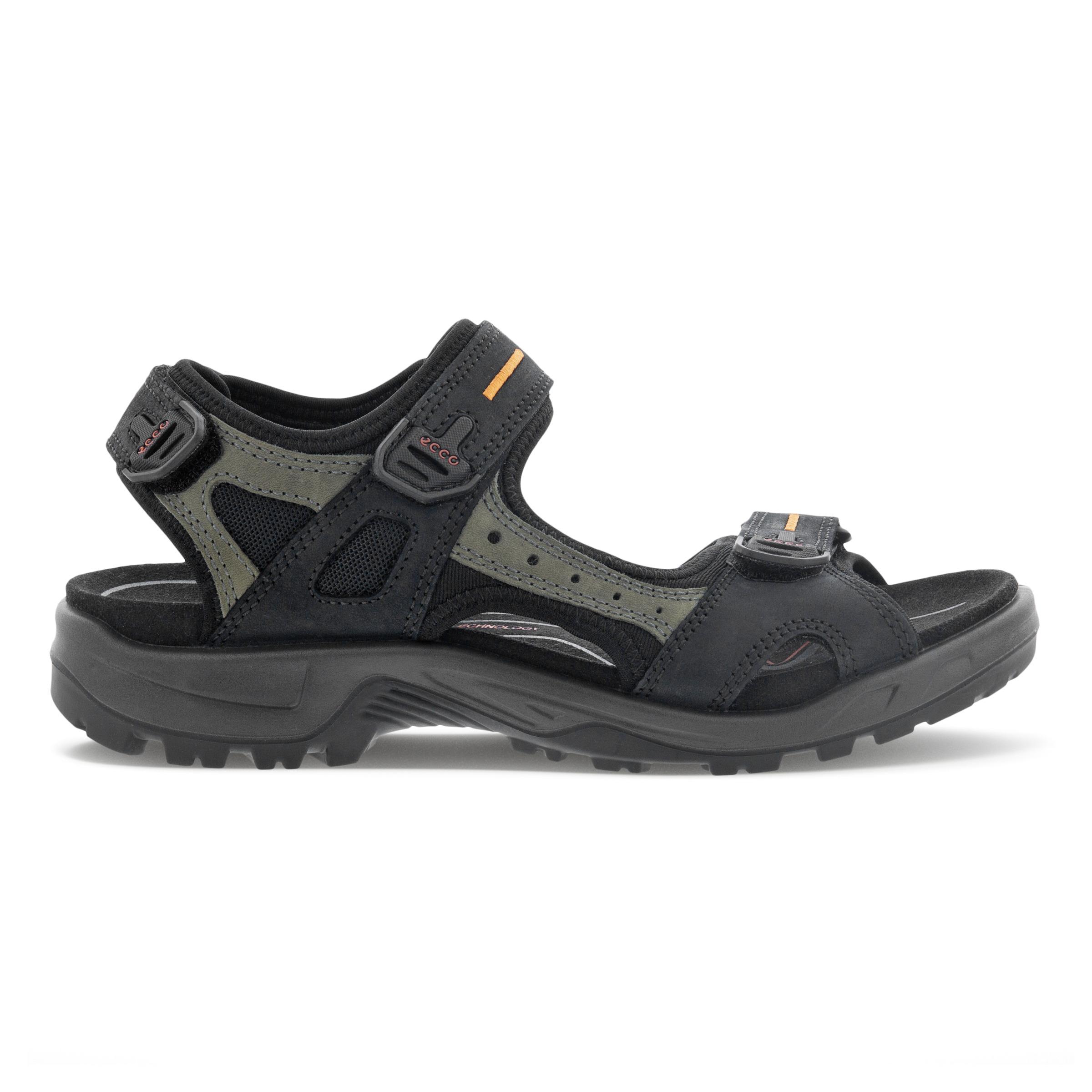 ECCO Mens Yucatan Sandal Size 14-14.5 Black