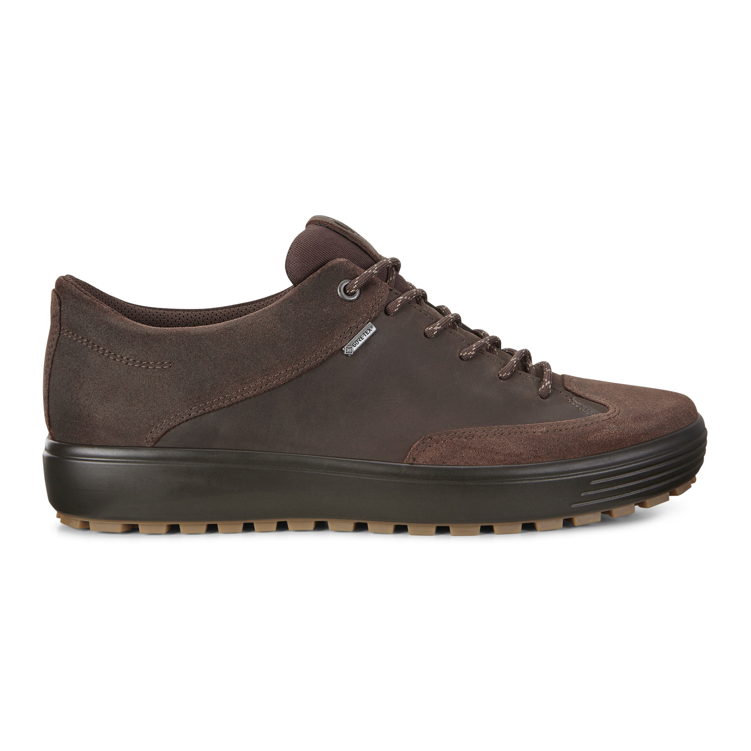 ECCO Mens Soft 7 Tred Gtx Tie Sneakers Size 9-9.5 Coffee