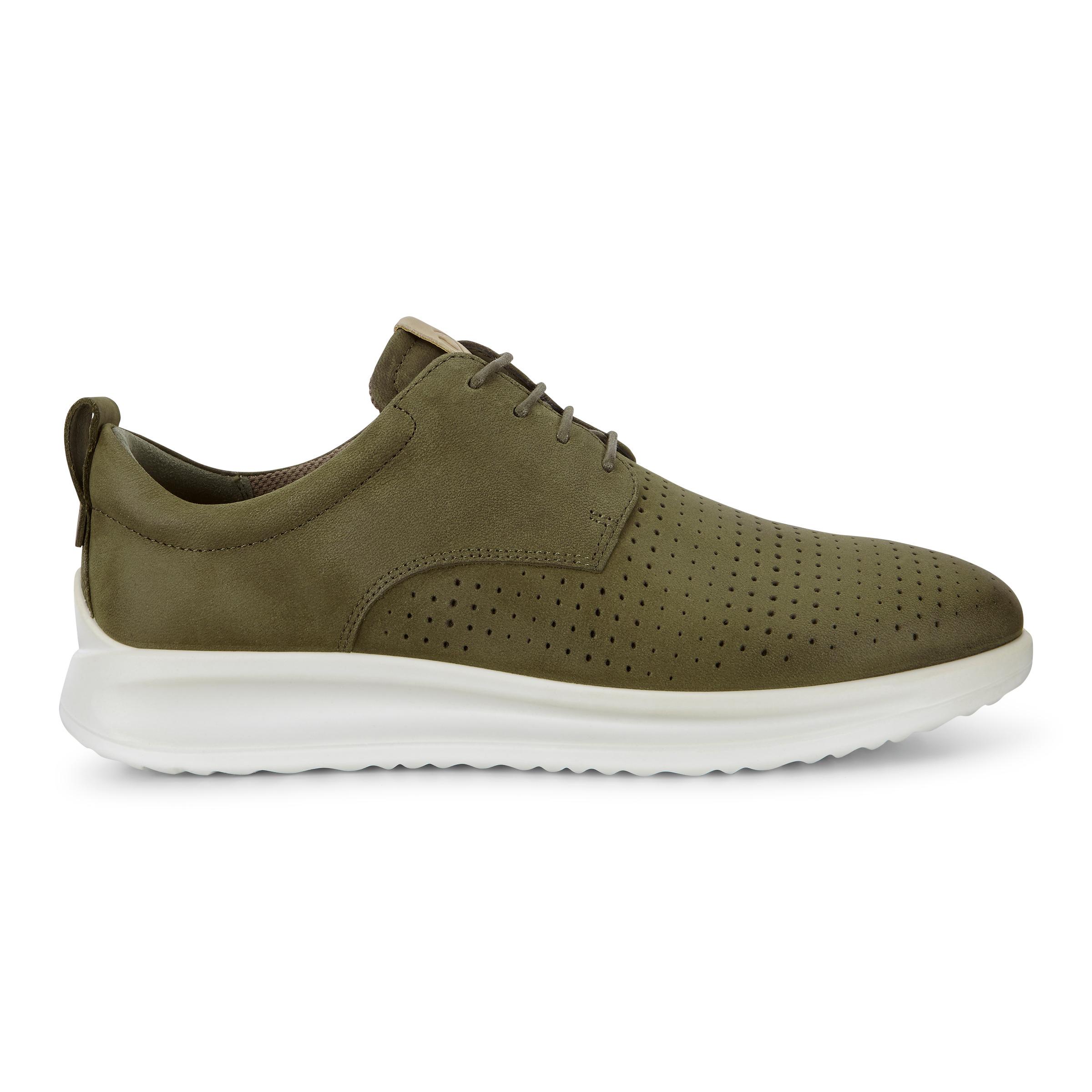 ECCO Mens Aquet Perf Tie Sneakers Size 10-10.5 Grape Leaf