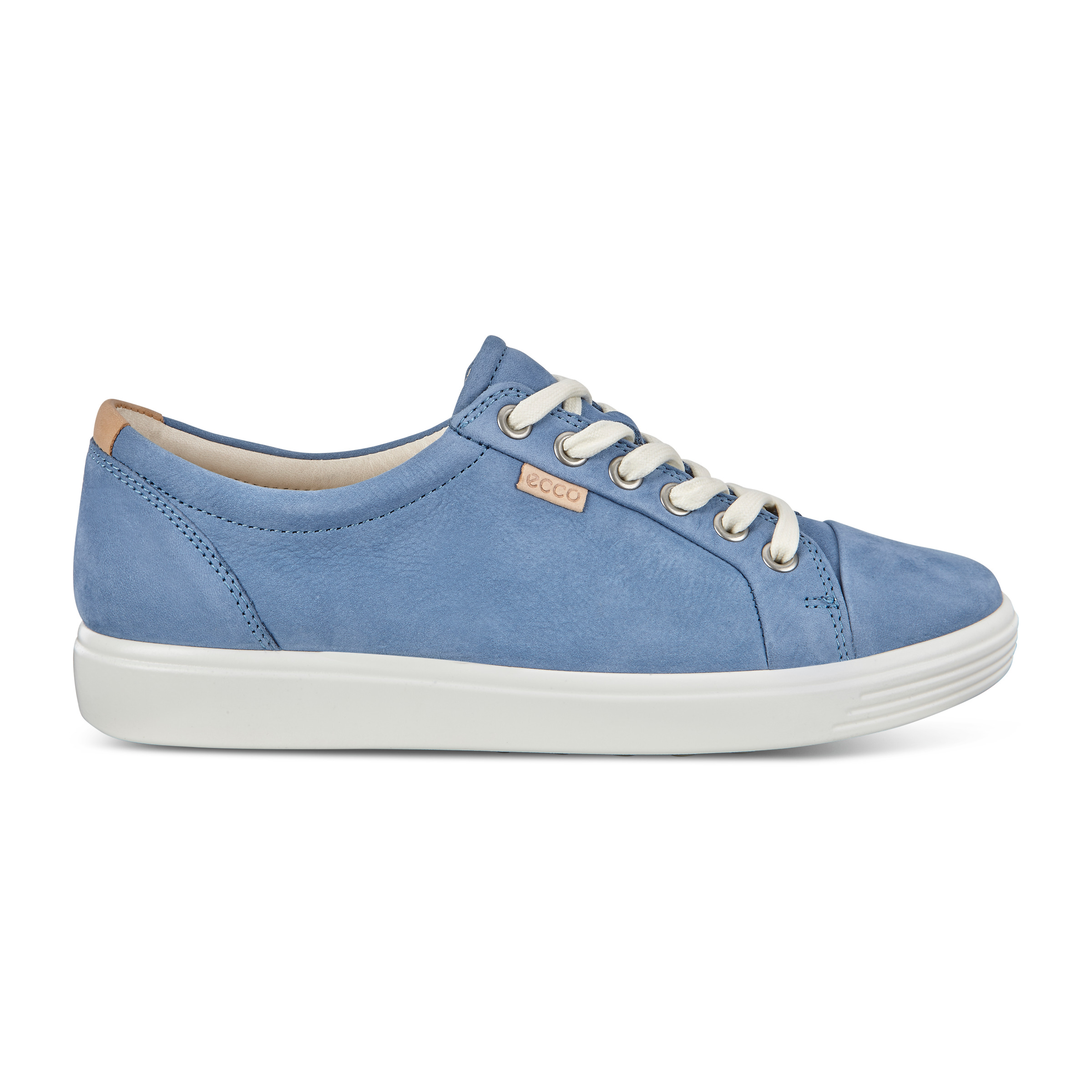ECCO Womens Soft 7 Sneaker Size 12-12.5 Retro Blue