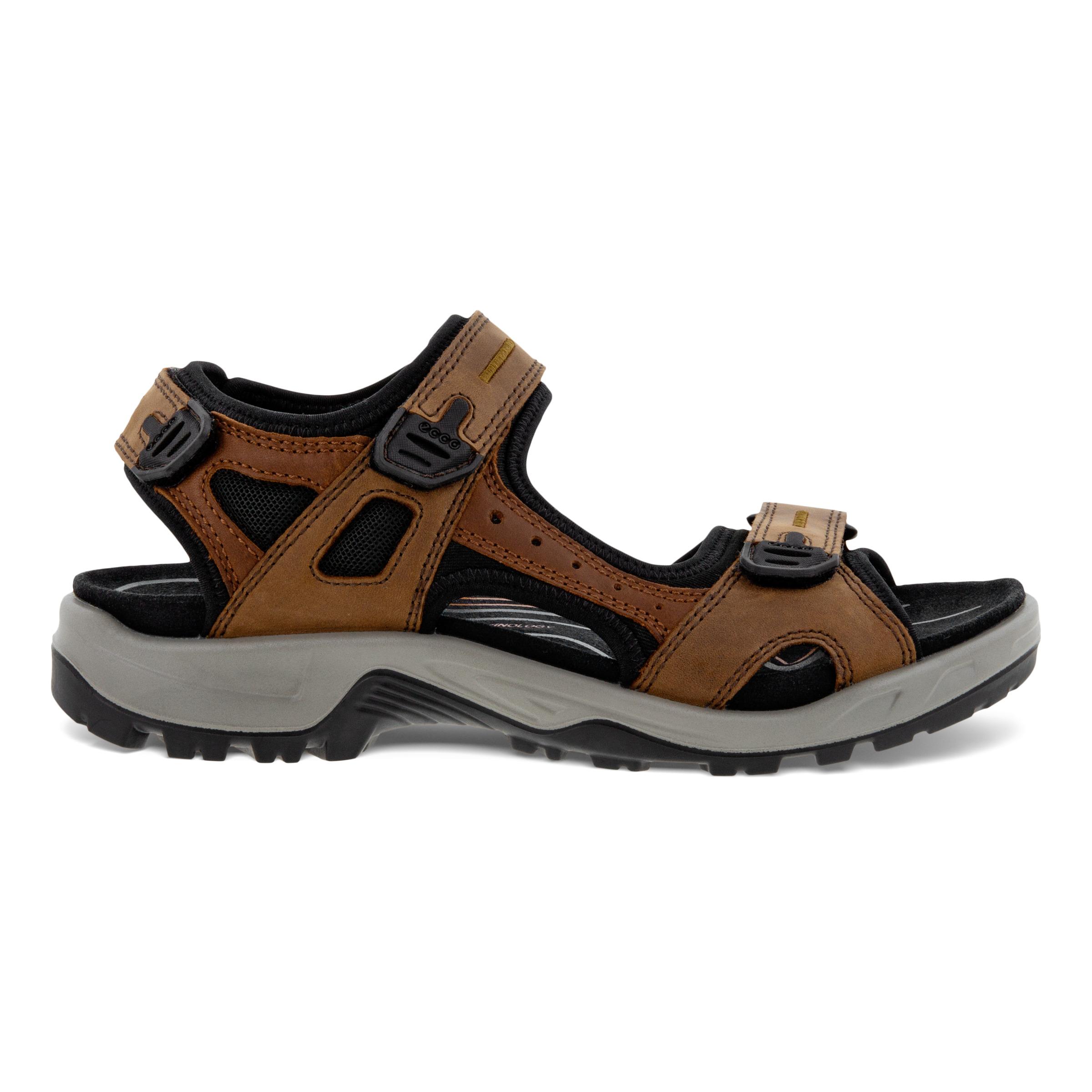 ECCO Mens Yucatan Sandal Size 8-8.5 Espresso